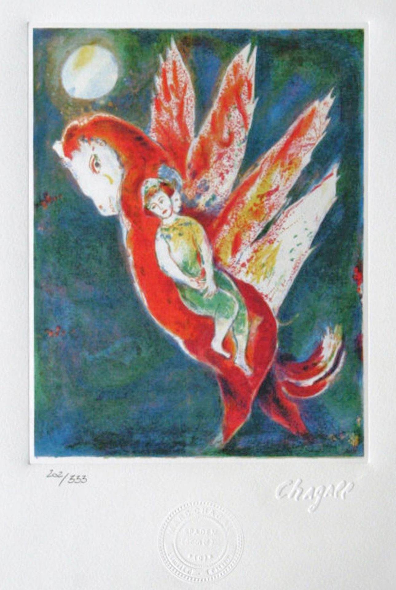 Marc Chagall, Then The Old Woman Mounted on The Ifrit's Back, Taking Her Daughter Behind HerMar
