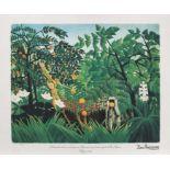 Henri Rousseau, Exotic LandscapeHenri Rousseau, Exotic Landscape, chromolithography, 44 × 56 c