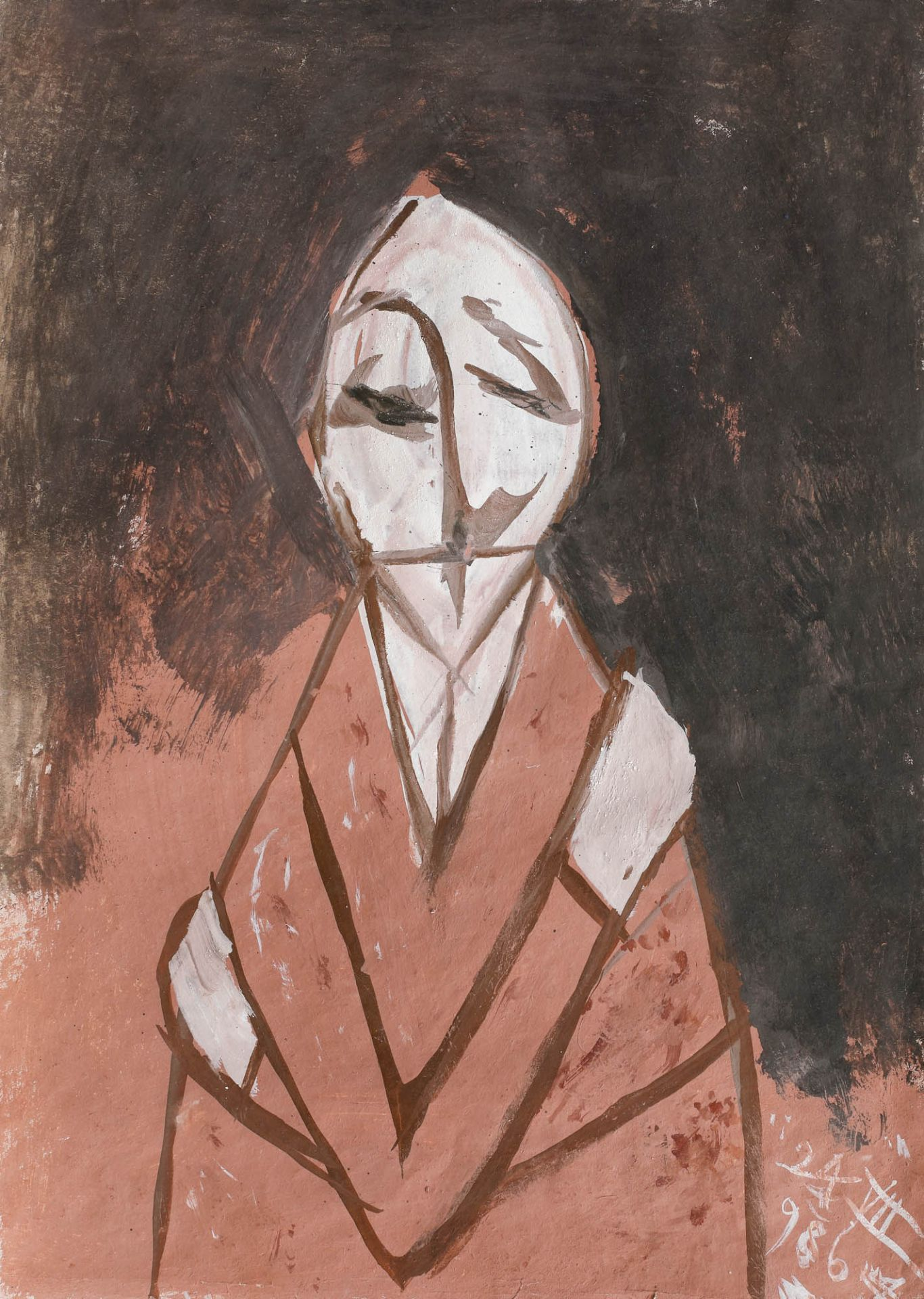 Florin Mitroi, Days. 24.III.1986Florin Mitroi, Days. 24.III.1986, tempera on paper, 49,5 × 3