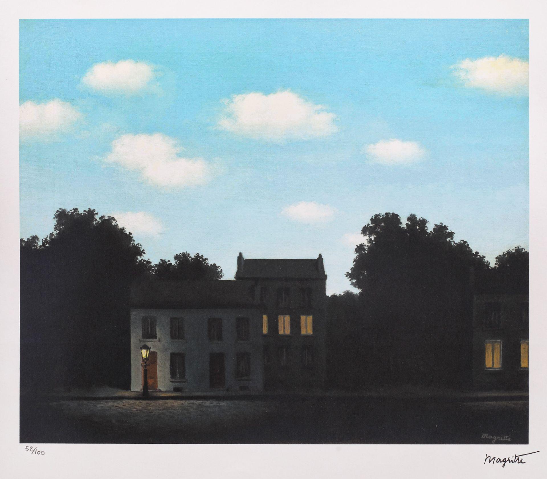 René Magritte, The Empire of Light René Magritte, The Empire of Light, chromolithography, 35 × 42,5