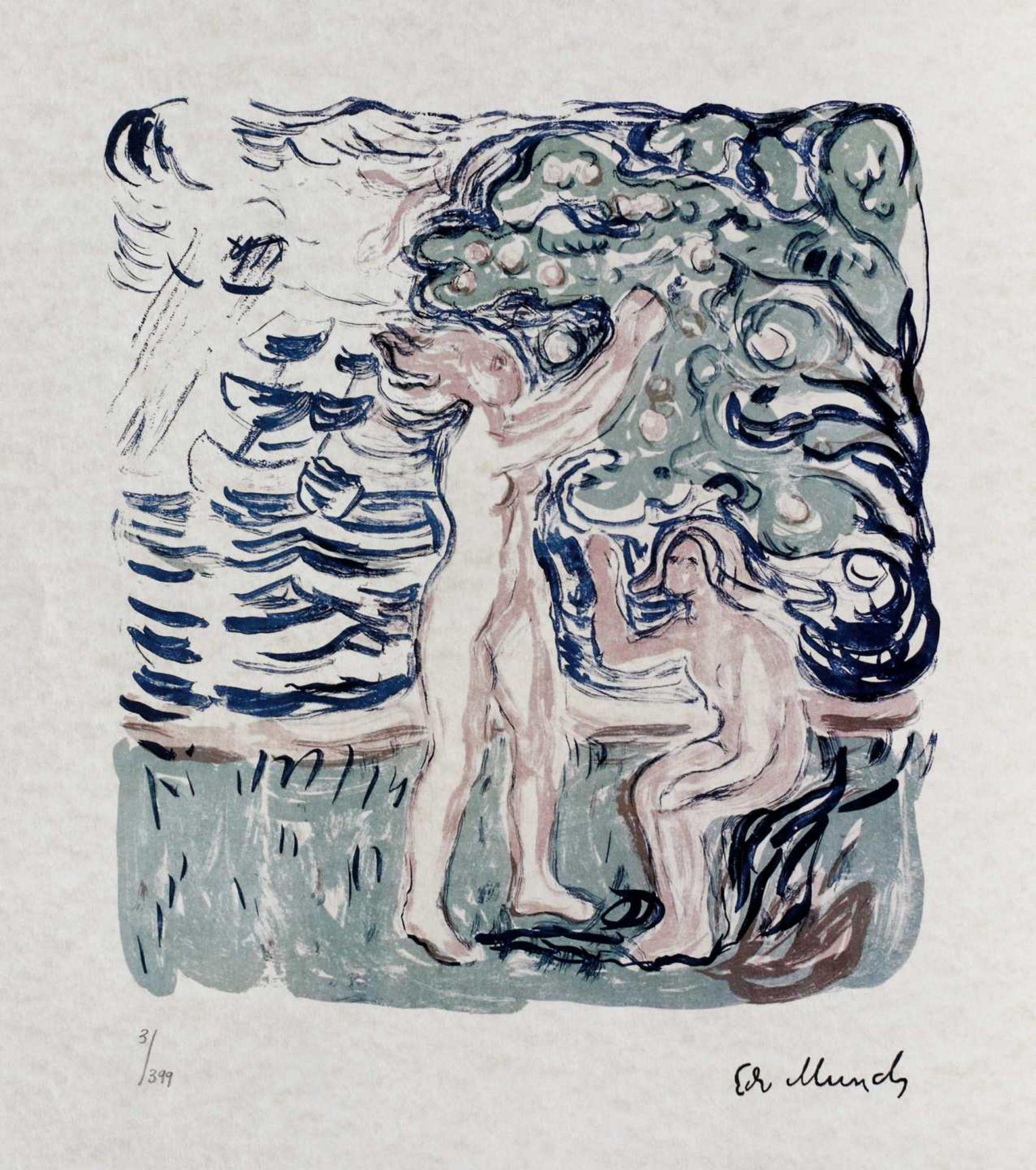 Edvard Munch, NeutraliaEdvard Munch, Neutralia, chromolithography, 23 × 21 cm, signed bottom r