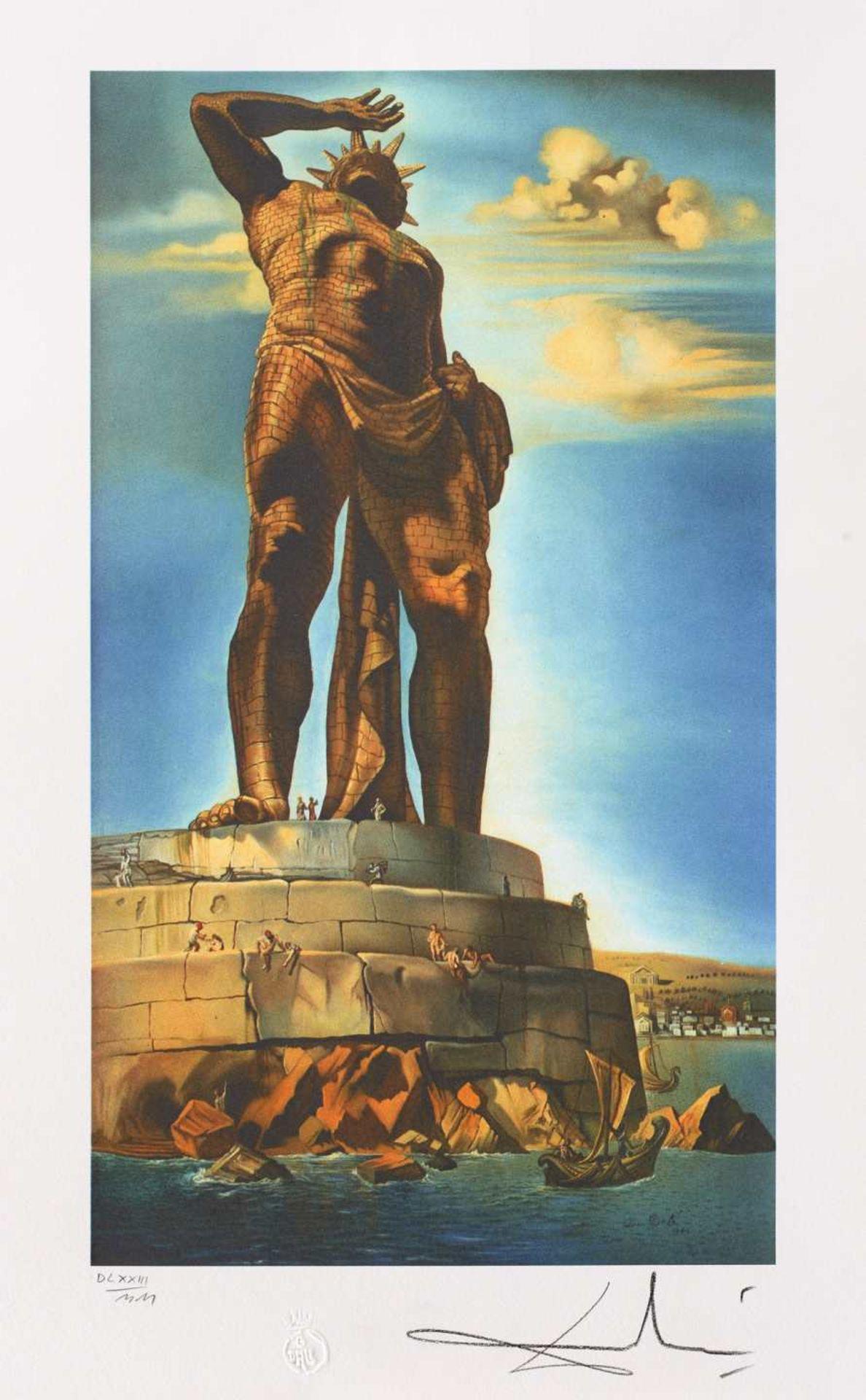 Salvador Dali, The Colossus of RhodesSalvador Dali, The Colossus of Rhodes, chromolithography,