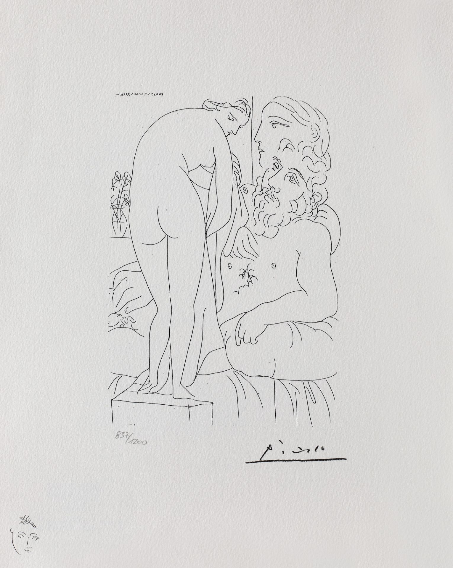 Pablo Picasso, The Artist's MusePablo Picasso, The Artist's Muse, lithography, 22 × 15 cm, sig