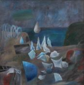 Florin Niculiu, Fantastic LandscapeFlorin Niculiu, Fantastic Landscape, oil on canvas , 80 × 8