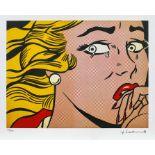 Roy Lichtenstein, Crying GirlRoy Lichtenstein, Crying Girl, chromolithography, 28 × 37 cm, sig