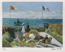 Claude Monet, Garden at Sainte-AdresseClaude Monet, Garden at Sainte-Adresse, chromolithography
