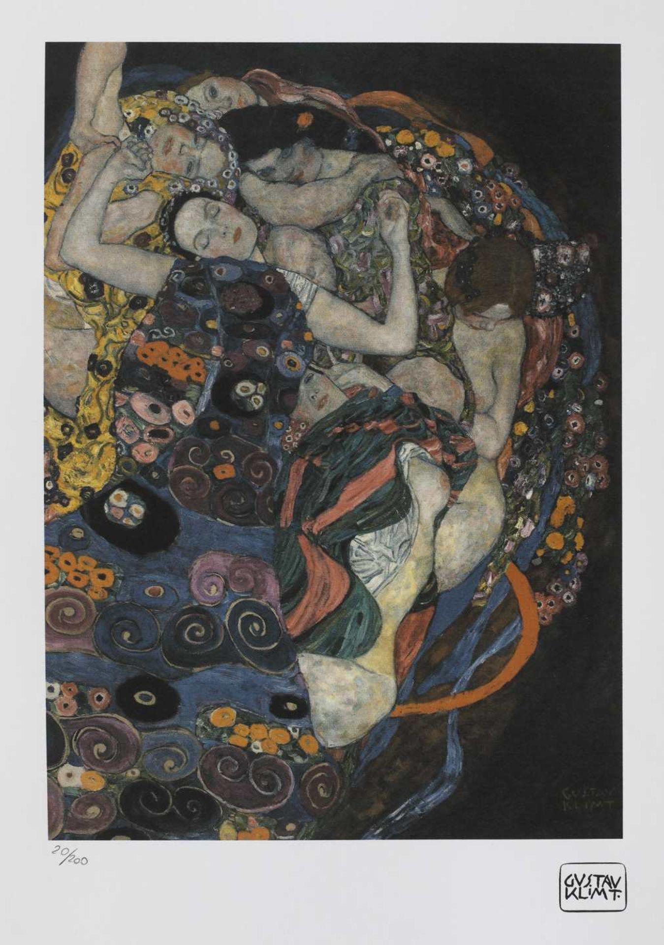 Gustav Klimt, The VirginGustav Klimt, The Virgin, chromolithography, 39 × 28 cm, signed bottom