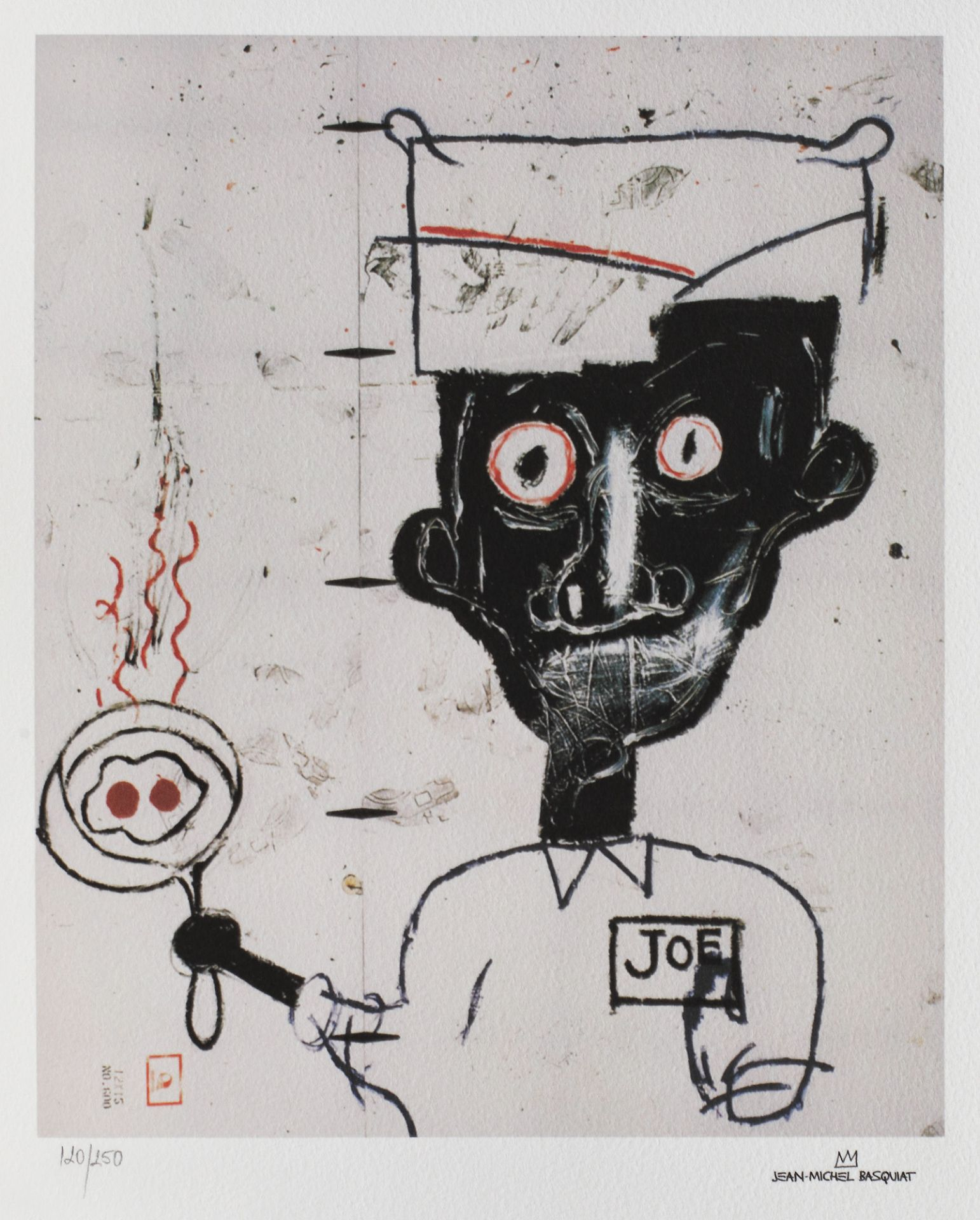 Jean-Michel Basquiat, Eyes and EggsJean-Michel Basquiat, Eyes and Eggs, chromolithography, 25,5