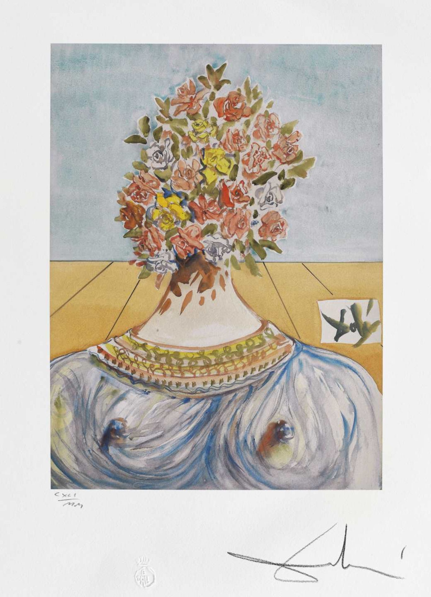 Salvador Dali, The Flowering of Inspiration (Gala en fleurs)Salvador Dali, The Flowering of Ins