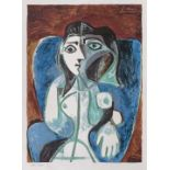Pablo Picasso, Woman in The Blue ChairPablo Picasso, Woman in The Blue Chair, chromolithography
