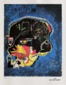Jean-Michel Basquiat, SkullJean-Michel Basquiat, Skull, chromolithography, 26 × 22 cm, signed
