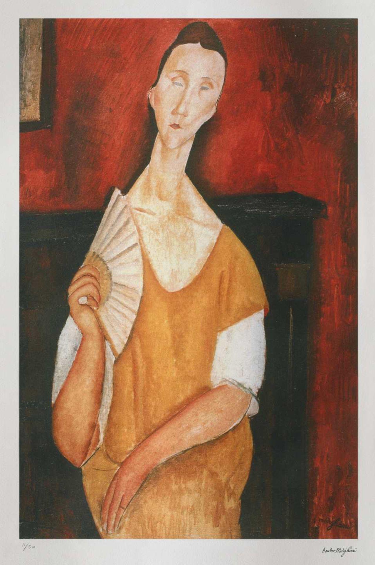 Amedeo Modigliani, Portrait of Lunia Czechowska with a FanAmedeo Modigliani, Portrait of Lunia