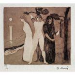 Edvard Munch, The Woman IIEdvard Munch, The Woman II, chromolithography, 21 × 24 cm, signed bo