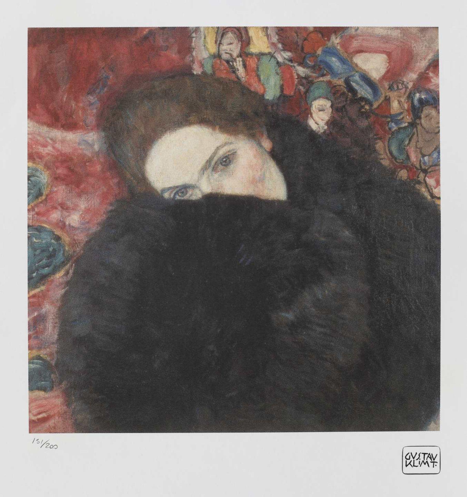 Gustav Klimt, Lady with a MuffGustav Klimt, Lady with a Muff, chromolithography, 34,5 × 45,5 c
