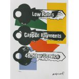 Andy Warhol, Low RatesAndy Warhol, Low Rates, chromolithography, 40 × 33,5 cm, signed bottom r