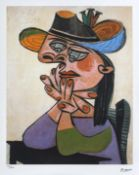 Pablo Picasso, Woman LeaningPablo Picasso, Woman Leaning, chromolithography, 45,5 × 35,5 cm, s