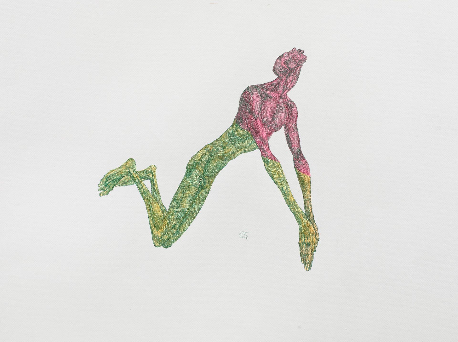 Roman Tolici, Affective StatusRoman Tolici, Affective Status, ink and felt-tip pen on paper, 50
