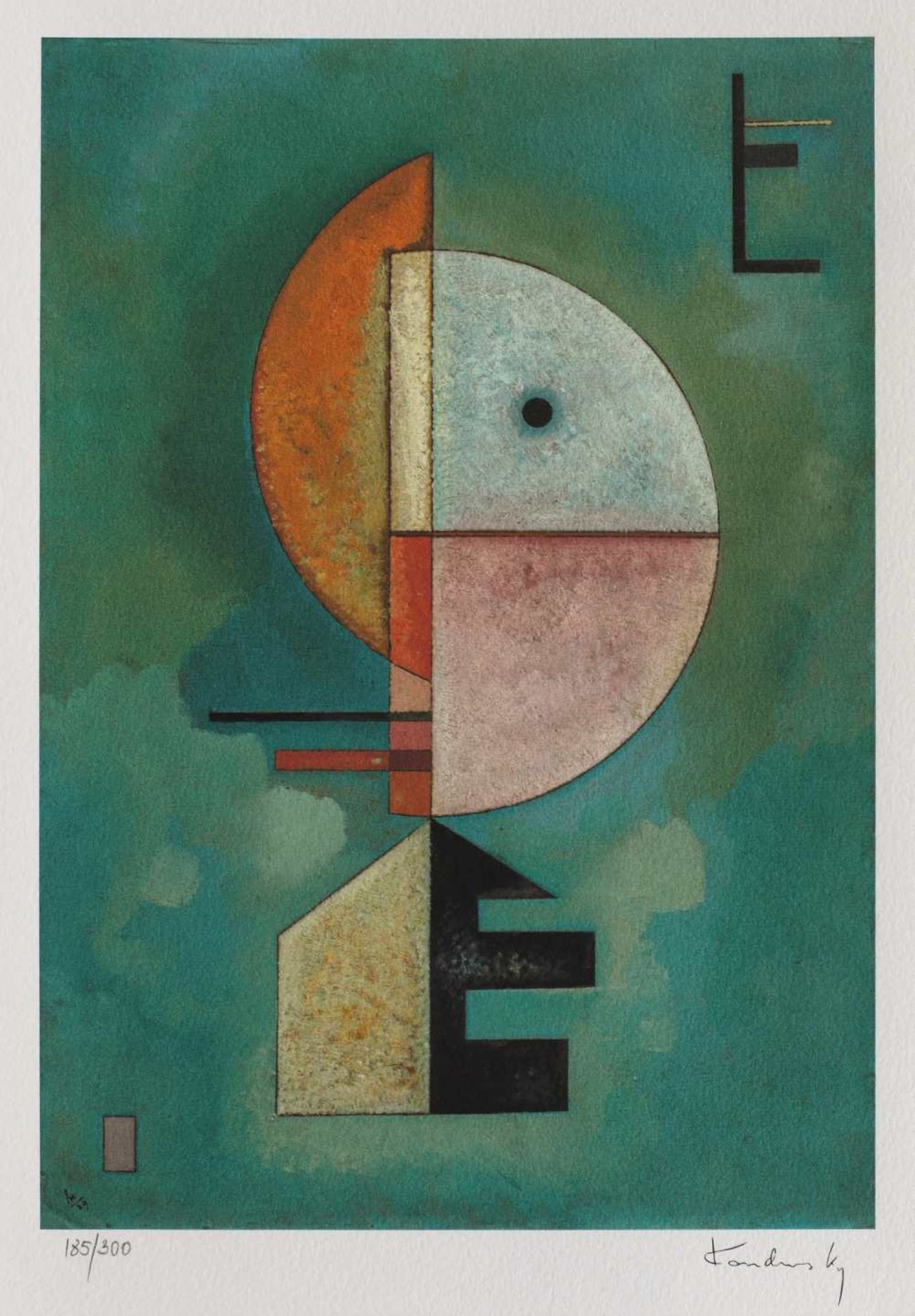 Wassily Kandinsky, UpWassily Kandinsky, Up, chromolithography, 28 × 19 cm, signed bottom right