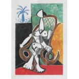 Pablo Picasso, Nude in A Rocking ChairPablo Picasso, Nude in A Rocking Chair, chromolithography