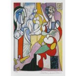 Pablo Picasso, The SculptorPablo Picasso, The Sculptor, chromolithography, 30,5 × 21 cm, numbe