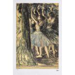Edgar Degas, BallerinasEdgar Degas, Ballerinas, chromolithography, 49 × 31 cm, signed bottom r