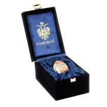 Limoges workshop, France, Fabergé egg, Limoges porcelain, hand-painted, decorated on the inside with