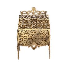 French workshop, Belle Époque support, for letters, made of gilded bronze, decorated with fantastic