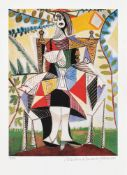 Pablo Picasso, Seated Woman in a Garden