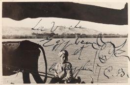 """""""La Vache Egyptien et le supplice"""", photo taken by Aziz Eloui Bey and Lee Miller, wearing handwritte"""