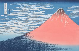 """Red Fuji from the series """"The 35 views of Mount Fuji"""""""