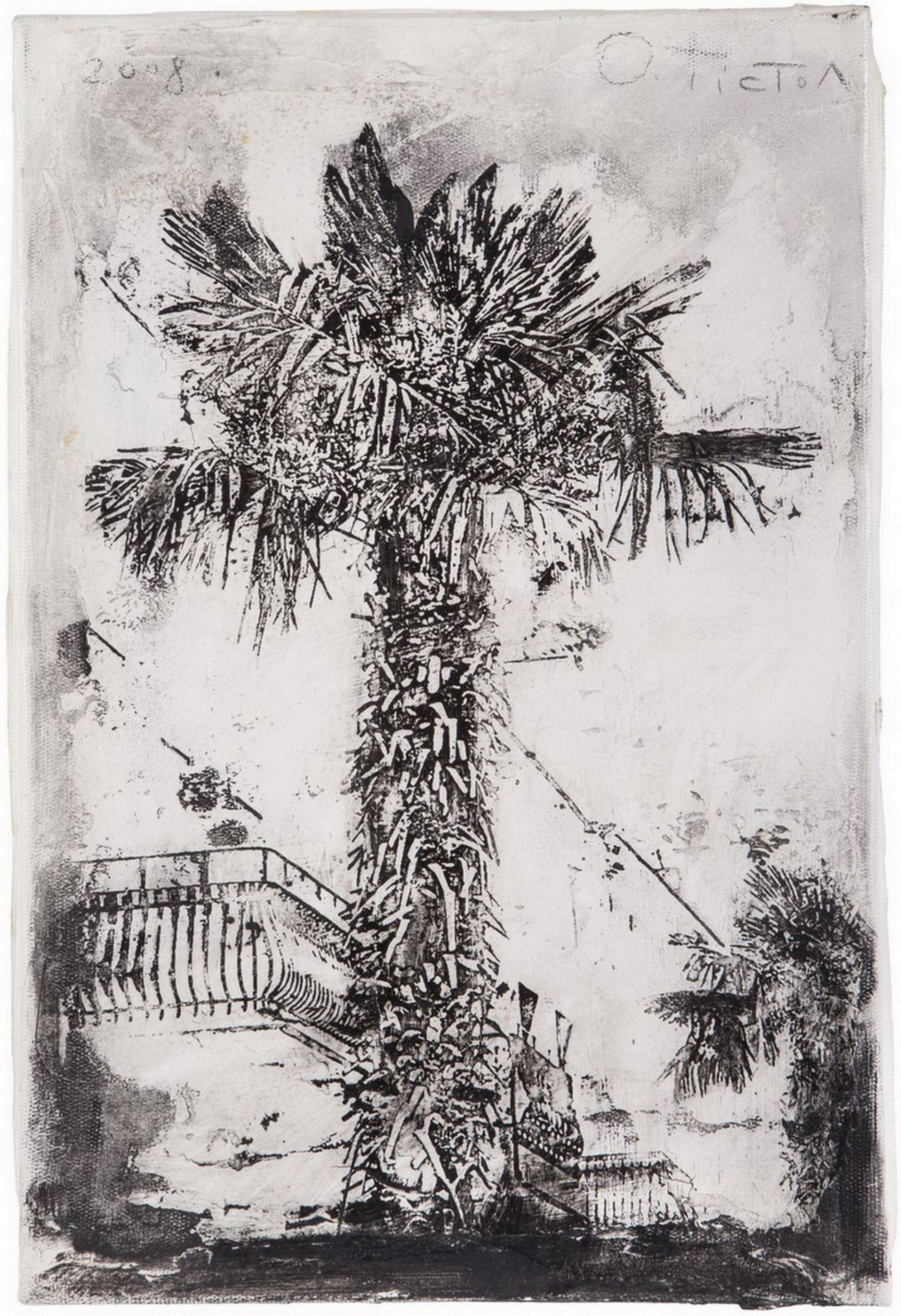 "[Ukrainian]. Tistol, Oleg ""Palm tree"". 2008. Mixed media. 30x20 cm. <br>9th of 10 copies. Signed.  - Bild 2 aus 3"
