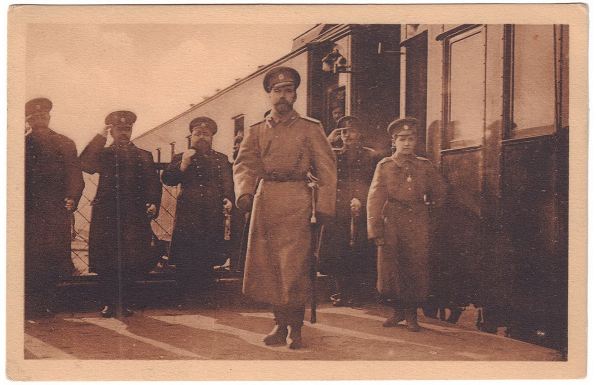"""[Romanov. Russian Empire]. Two postcards """"Nikolay II of Russia and prince Aleksey"""". Early 20 century"""