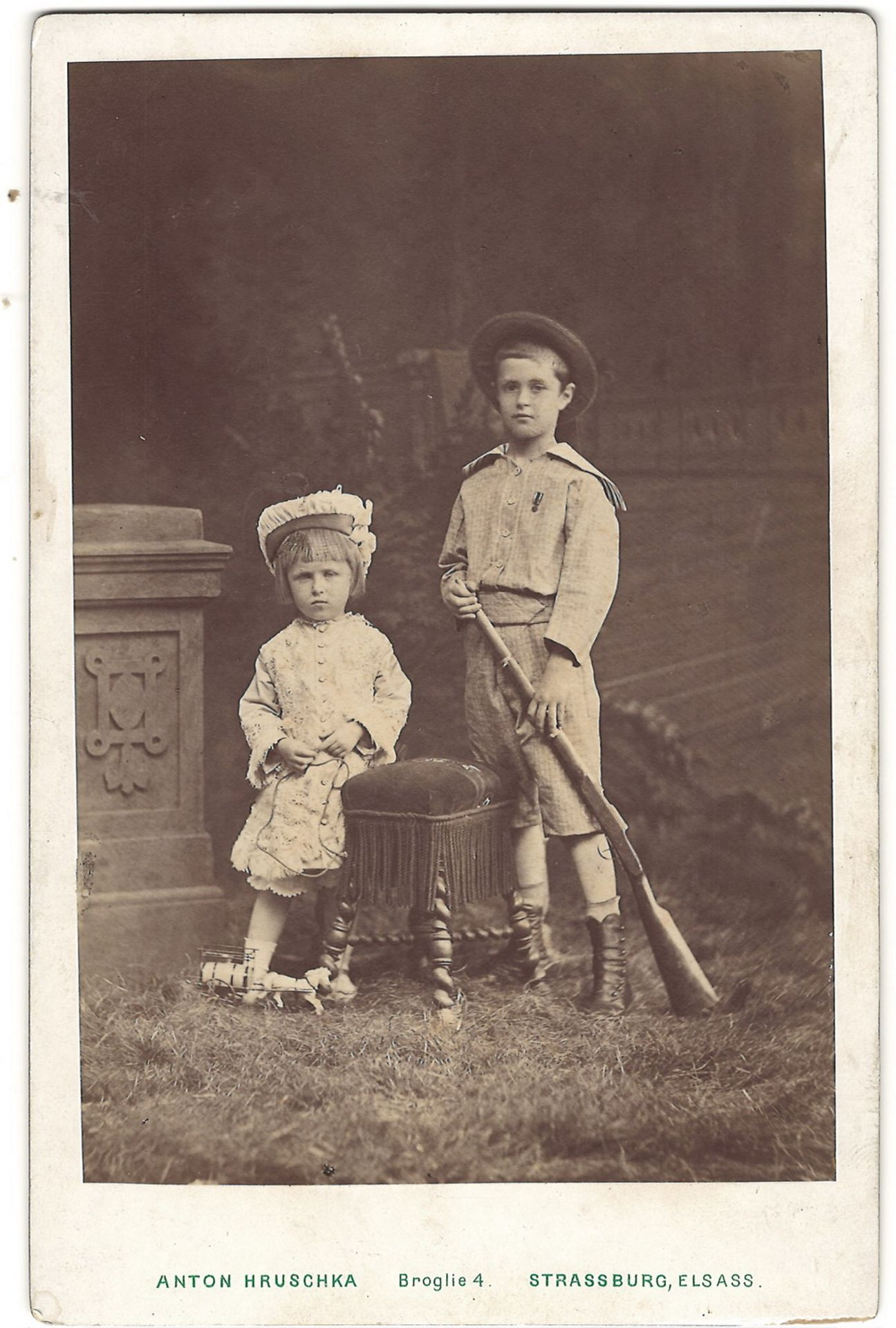 Khrushka, A. Cabinet portrait of children of countess Pocci. Photograph. Author's print. Late 19th c