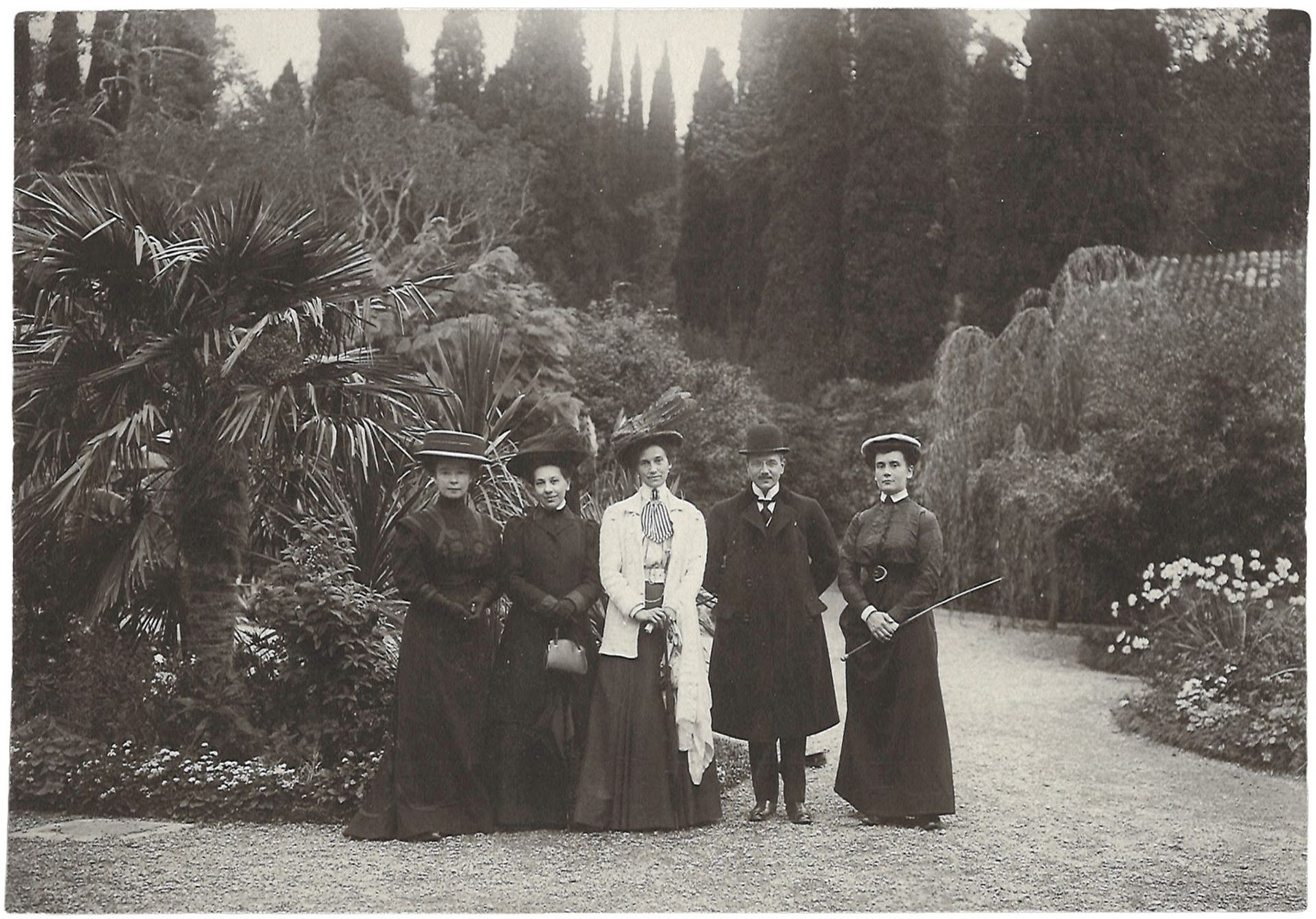 [Russian Empire]. Smirnov, I. Group portrait. Photograph. Author's print. Yalta, [late 19th century]
