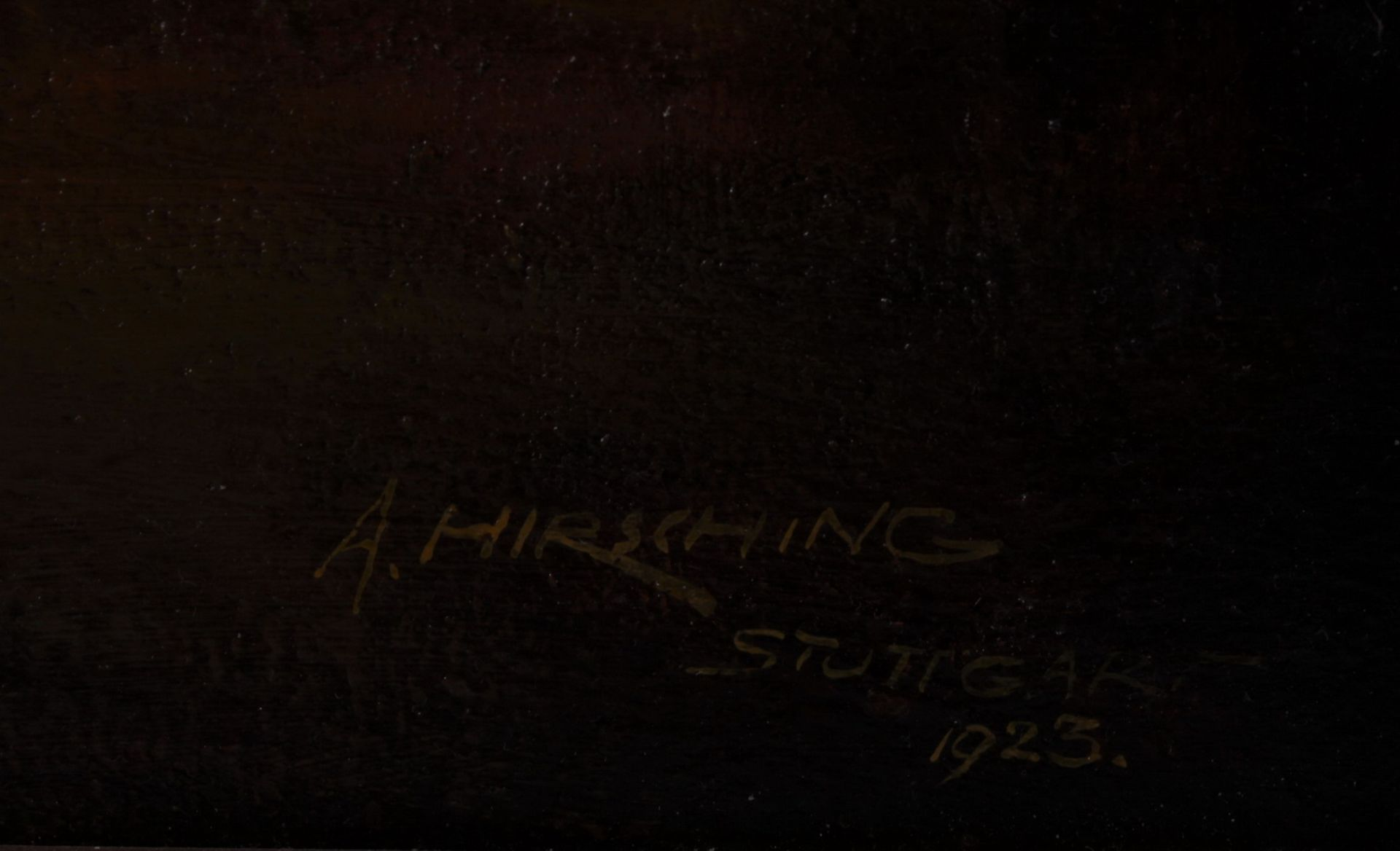 Hirshing, August. Undressing woman.<br>Signed and framed.  1923. Oil on cardboard. 58x42,5 cm. - Bild 3 aus 3
