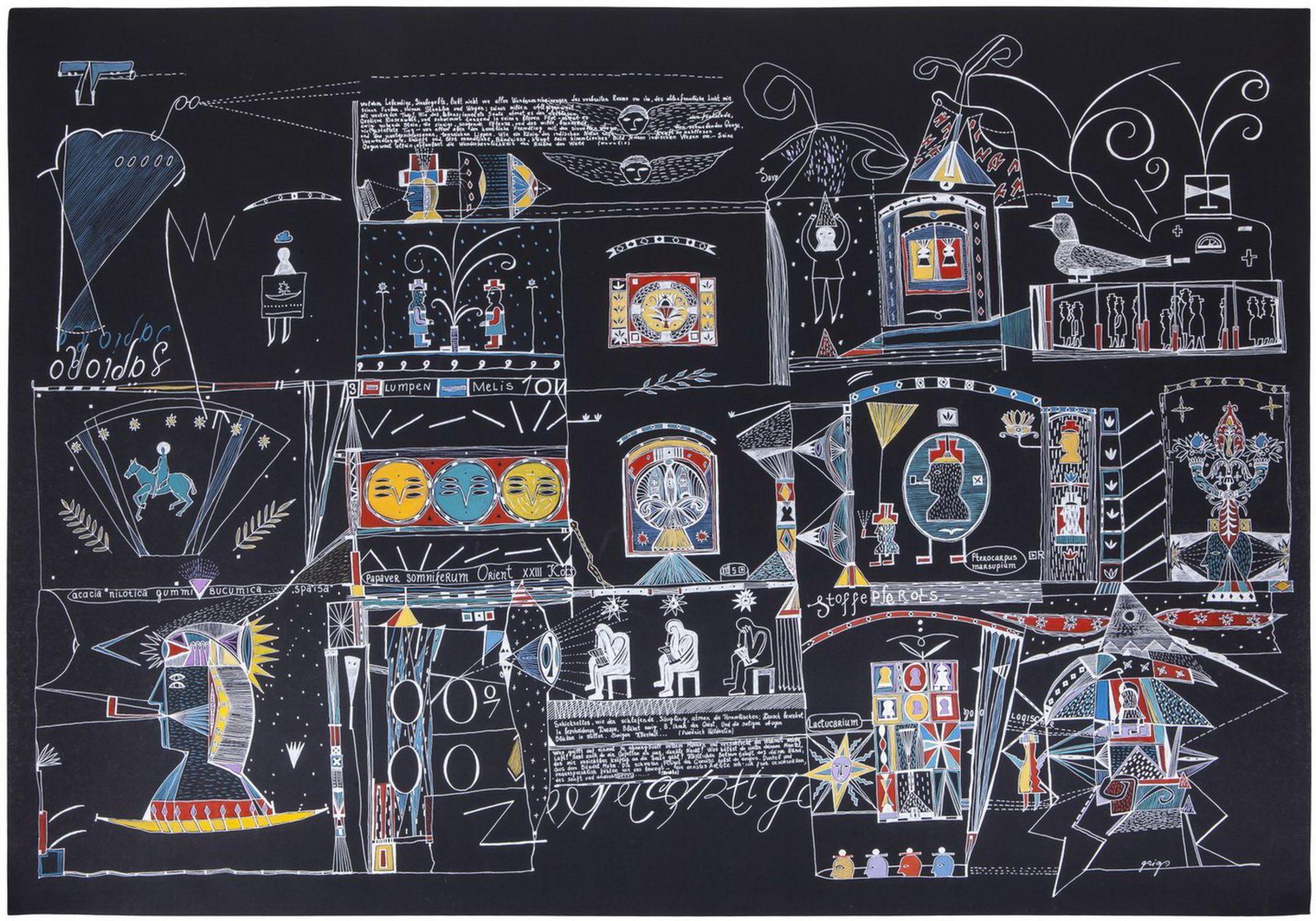"Grieg, V. ""XXIII i Koch"". 2006. Paper, gel, gel pen, gouache. 70x100 cm.<br>Signed. Phillips (Decemb - Bild 2 aus 2"