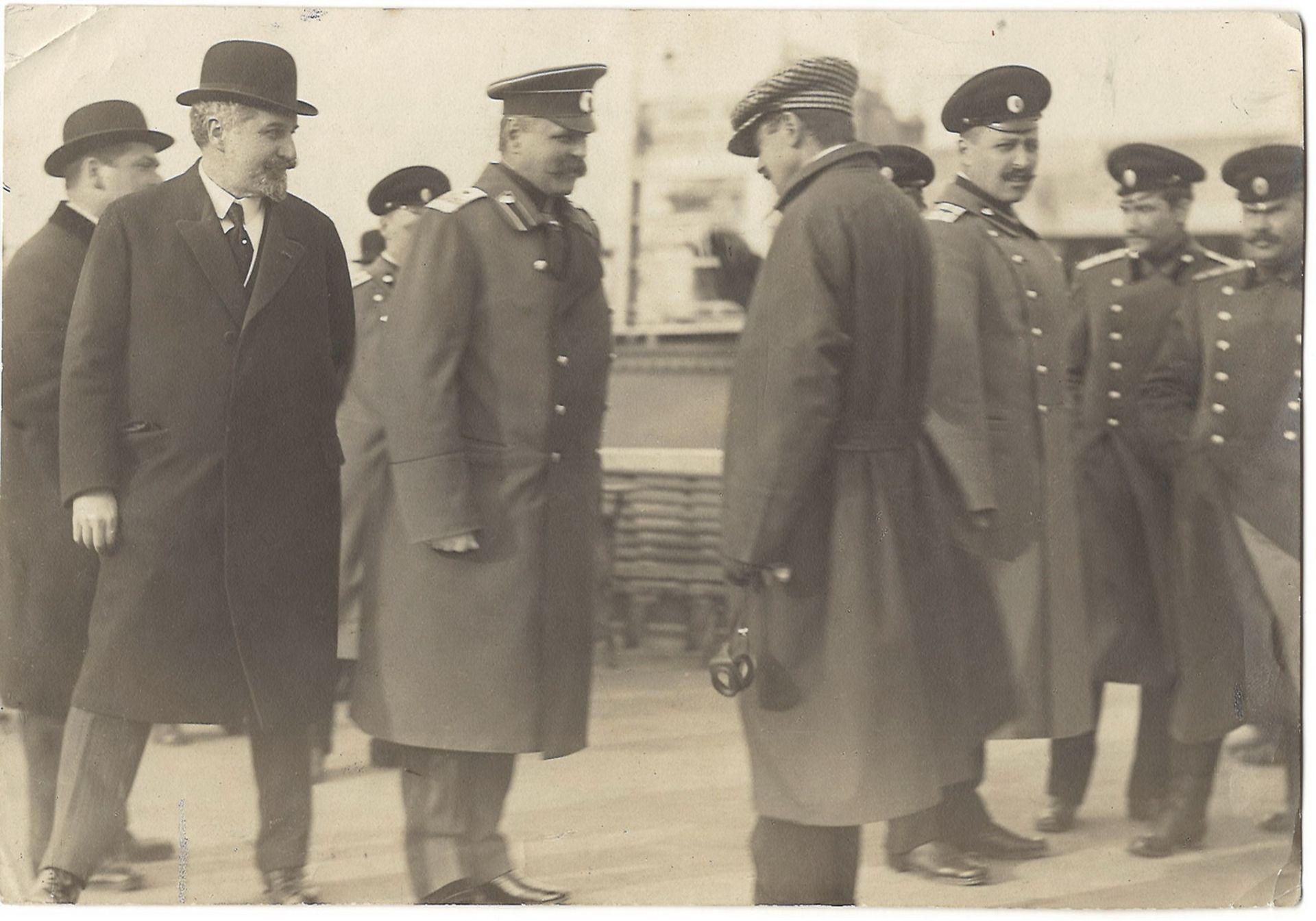 [Russian Empire]. Bulla, K.K. Minister of Internal Affairs V. Dzhunkovsky and aviator A. Gaber-Vlyns