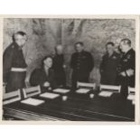 """""""Represents of victorious powers in the headquaters in Reims"""", 5th May 1945. - 21x26 cm. <br>"""