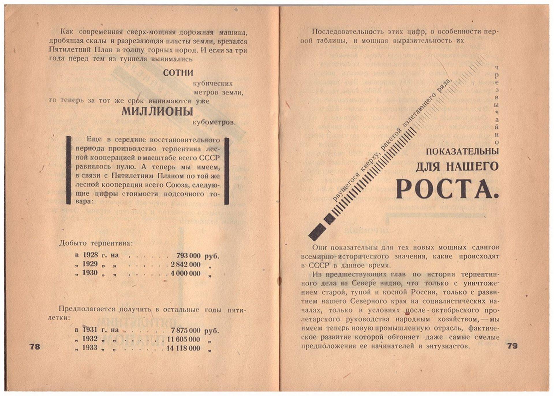 [Soviet art]. Ievlev, S. Our north Turpentine / S.F. Ievlev. - Arkhangelsk, 1931. - 80 pp.: ill.; 29 - Bild 6 aus 6