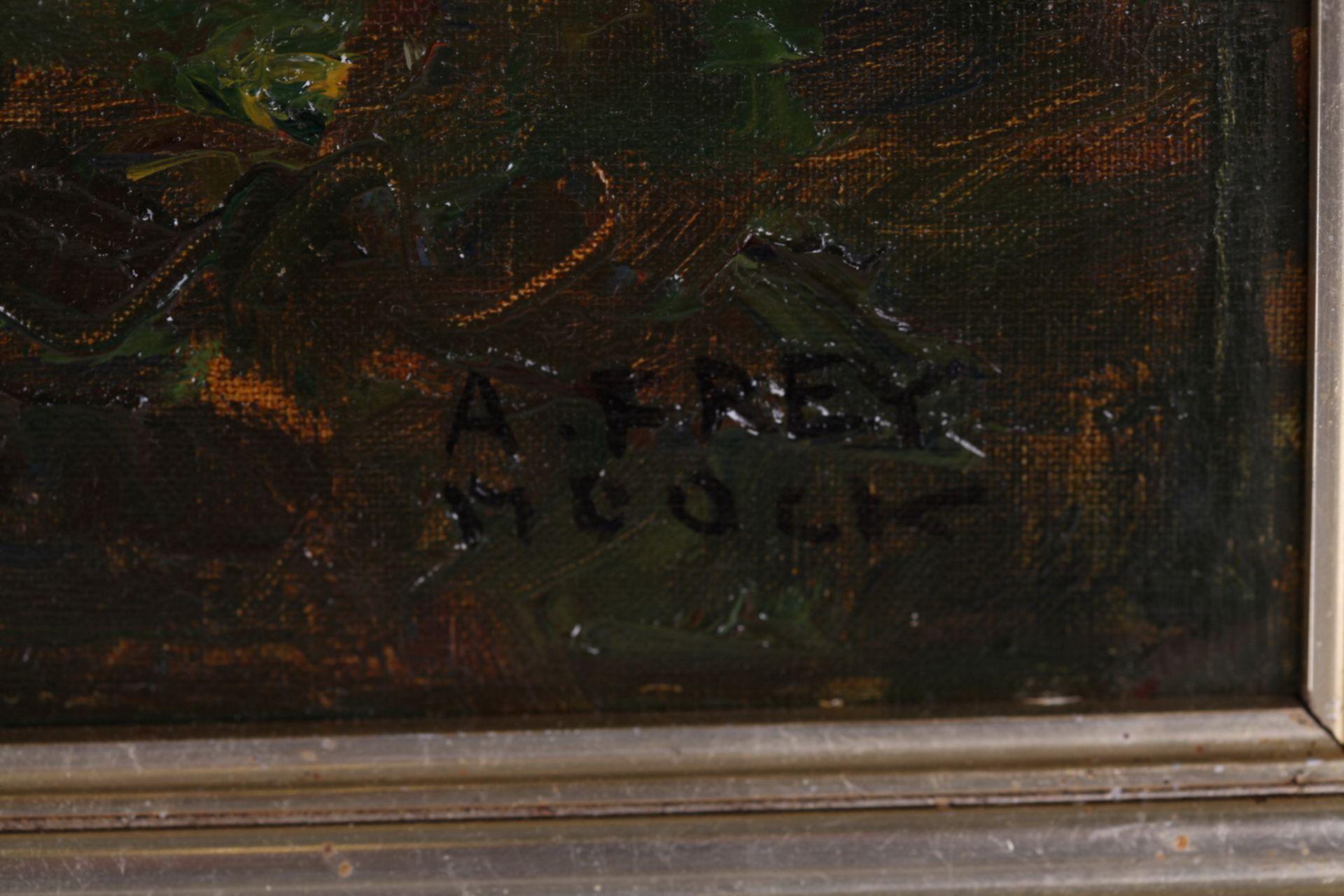 Frey-Moock, Adolf. Grapevine. [The first half of the ХХ century]. Oil on canvas. 50,5x60 cm.<br>Sign - Bild 4 aus 4