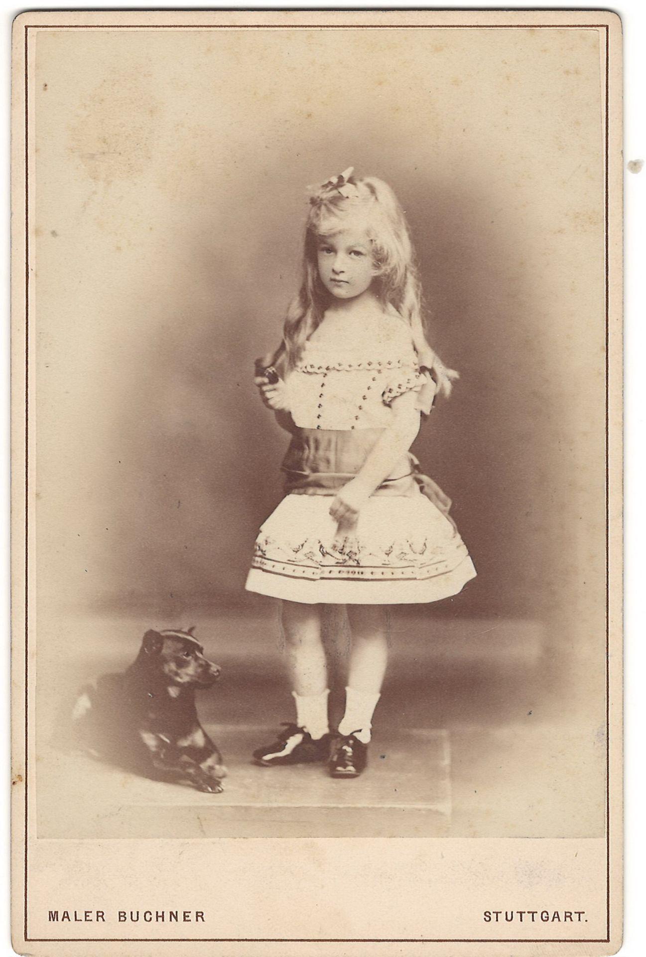 Buchner, M. Cabinet portrait of baroness Teresa Riderer-Taufkirkсner. Photograph. Author's print. [1