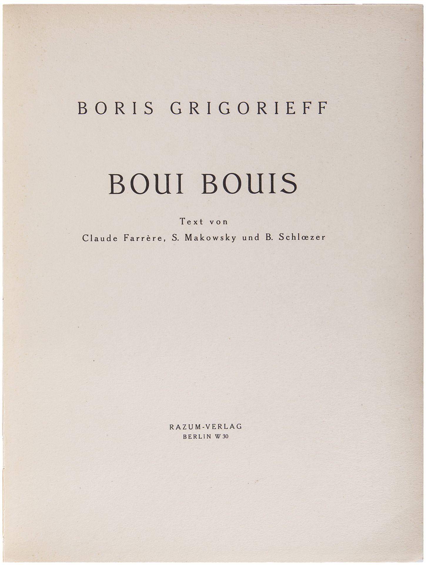 Grigorieff, B. Boui Bouis / Boris Grigorieff; text von Claude Farrere, S. Makowsky und B. Schloezer. - Bild 3 aus 5