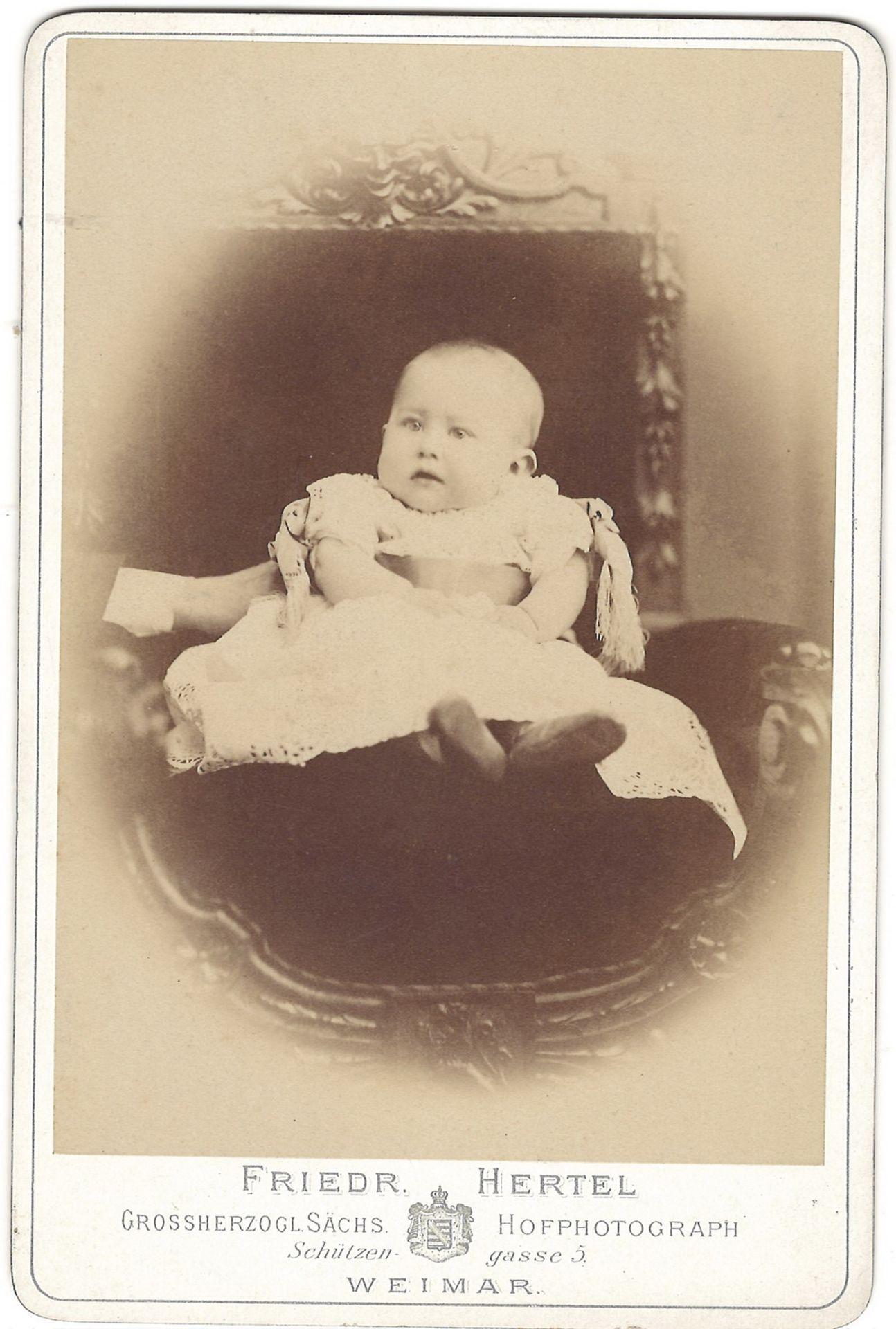 [Russian Empire]. Hartzel, F. Cabinet portrait of prince Bernhard von Sachsen-Weimar. Photograph. Au