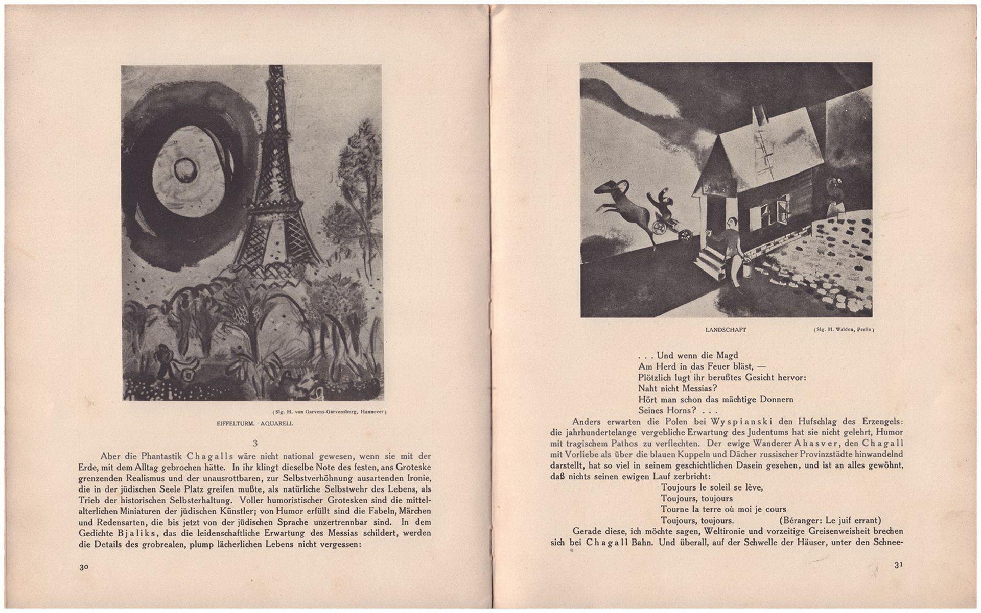 Efross, A., Tugendhold. J. Die Kunst Marc Chagalls, von A. Efross und J. Tugendhold / Autorisierte U - Bild 3 aus 4