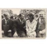 "[Soviet]. Photograph ""Alexei Leonov, Yuriy Gagarin and Valentina Tereshkova"". 1960s.<br>"