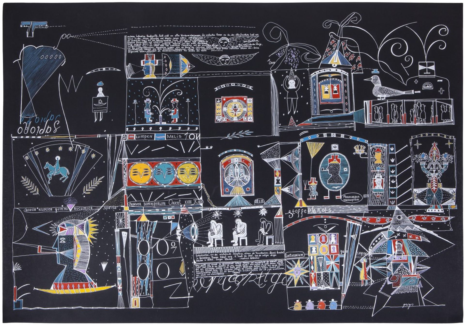 "Grieg, V. ""XXIII i Koch"". 2006. Paper, gel, gel pen, gouache. 70x100 cm.<br>Signed. Phillips (Decemb"