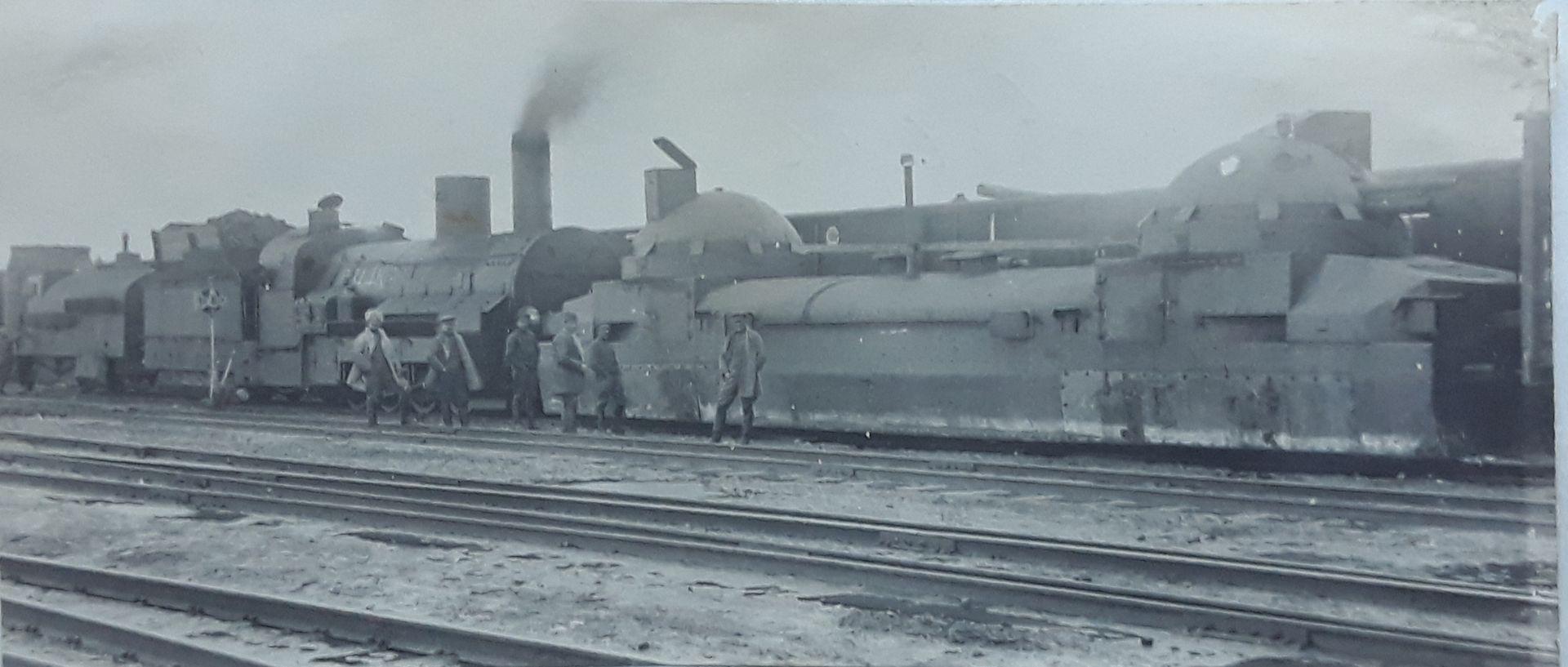 "[Russian Empire]. Armored train ""Orlik"". Photograph. 15,5x7 cm.<br>"