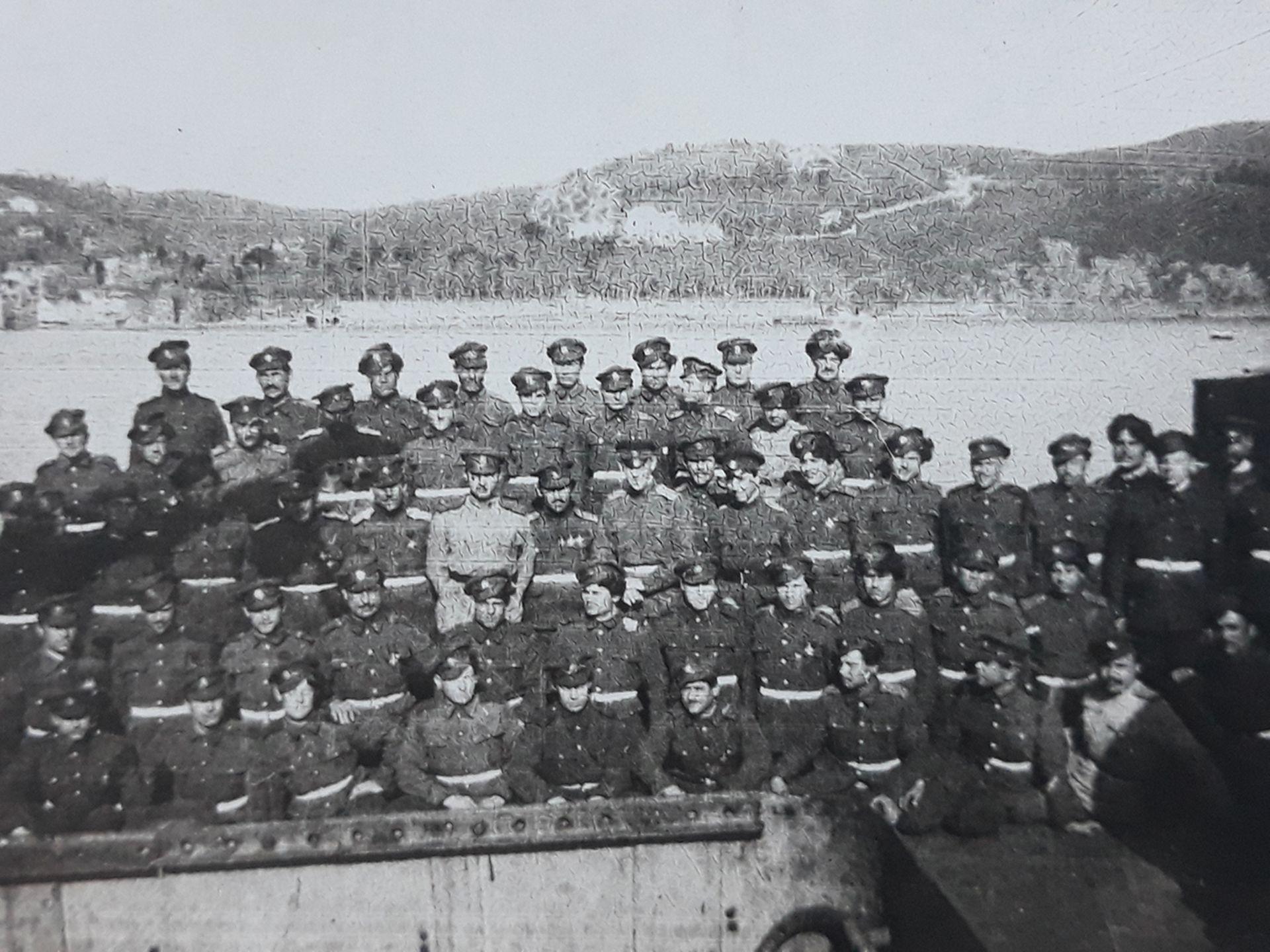 [Soviet]. Forces of Wrangel's South Army. Photograph. Crimea. 1920. 10x7 cm.<br>