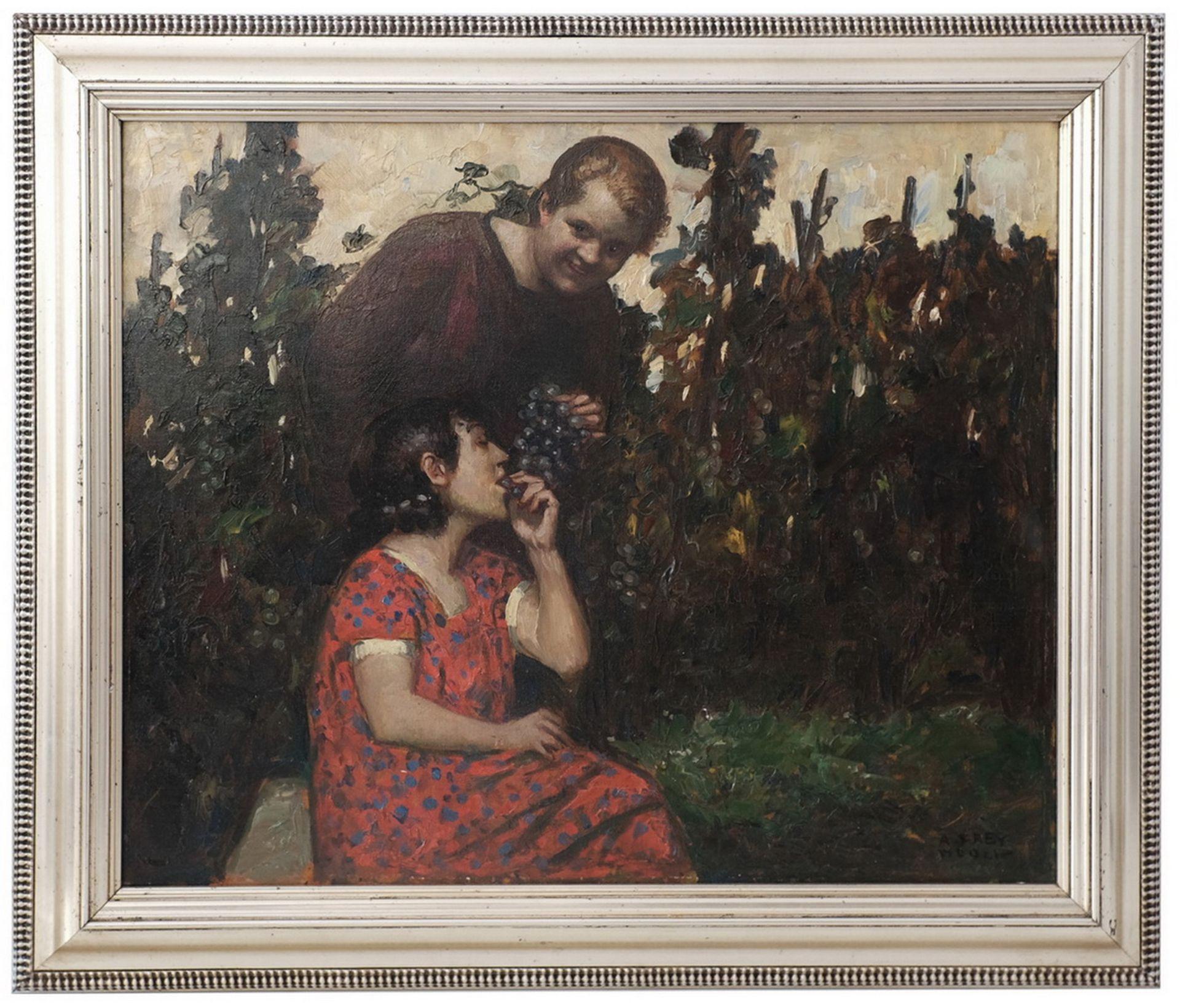 Frey-Moock, Adolf. Grapevine. [The first half of the ХХ century]. Oil on canvas. 50,5x60 cm.<br>Sign - Bild 3 aus 4