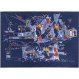 "Grieg, V. Artwork #2 from ""R"". 2005. Paper, gouache, watercolor, gel pen. 36x50 cm.<br>Signed. Sales"